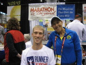 Matt Johnson of Runner Academy, at Chicago Marathon2013.