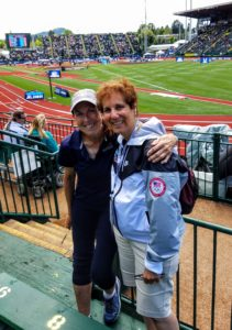 In the stands with Fran Vella
