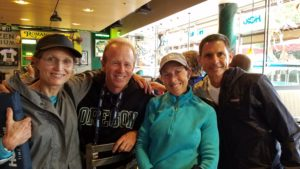 Peggy & I with Tom Lux and Robert Lusitana